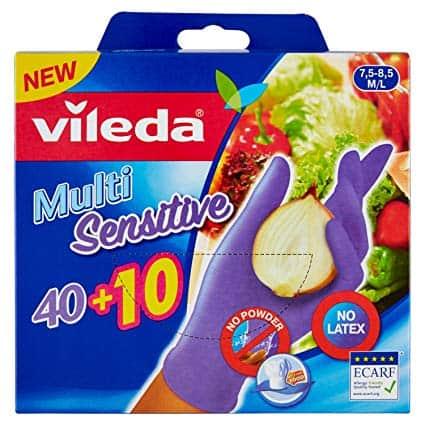 Adatti anche per gli alimenti i nuovi Guanti Multi Sensitive di Vileda