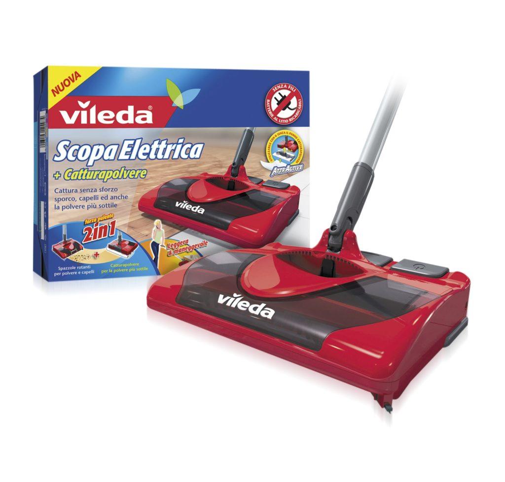 La Scopa Elettrica senza fili di VILEDA pulisce anche il parquet!
