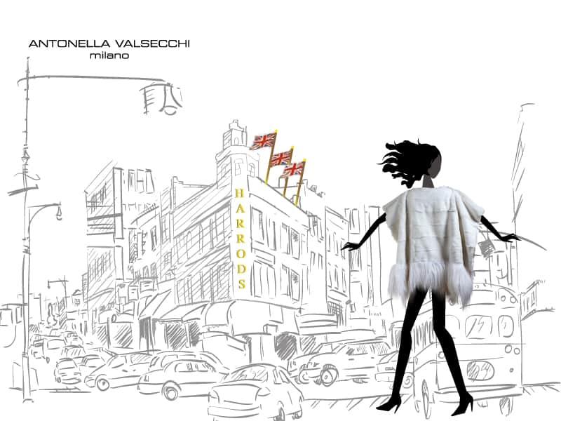 Il poncho by Antonella Valsecchi riscalda l' inverno con un tocco fashion