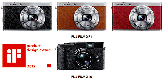 X10 e XF1, le digitali compatte di Fujifilm, premiate con l'iF Product Design Awards 2013