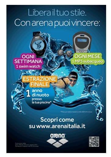 """Arena """"Libera il tuo stile"""", il concorso a premi valido fino al 31 agosto 2013."""