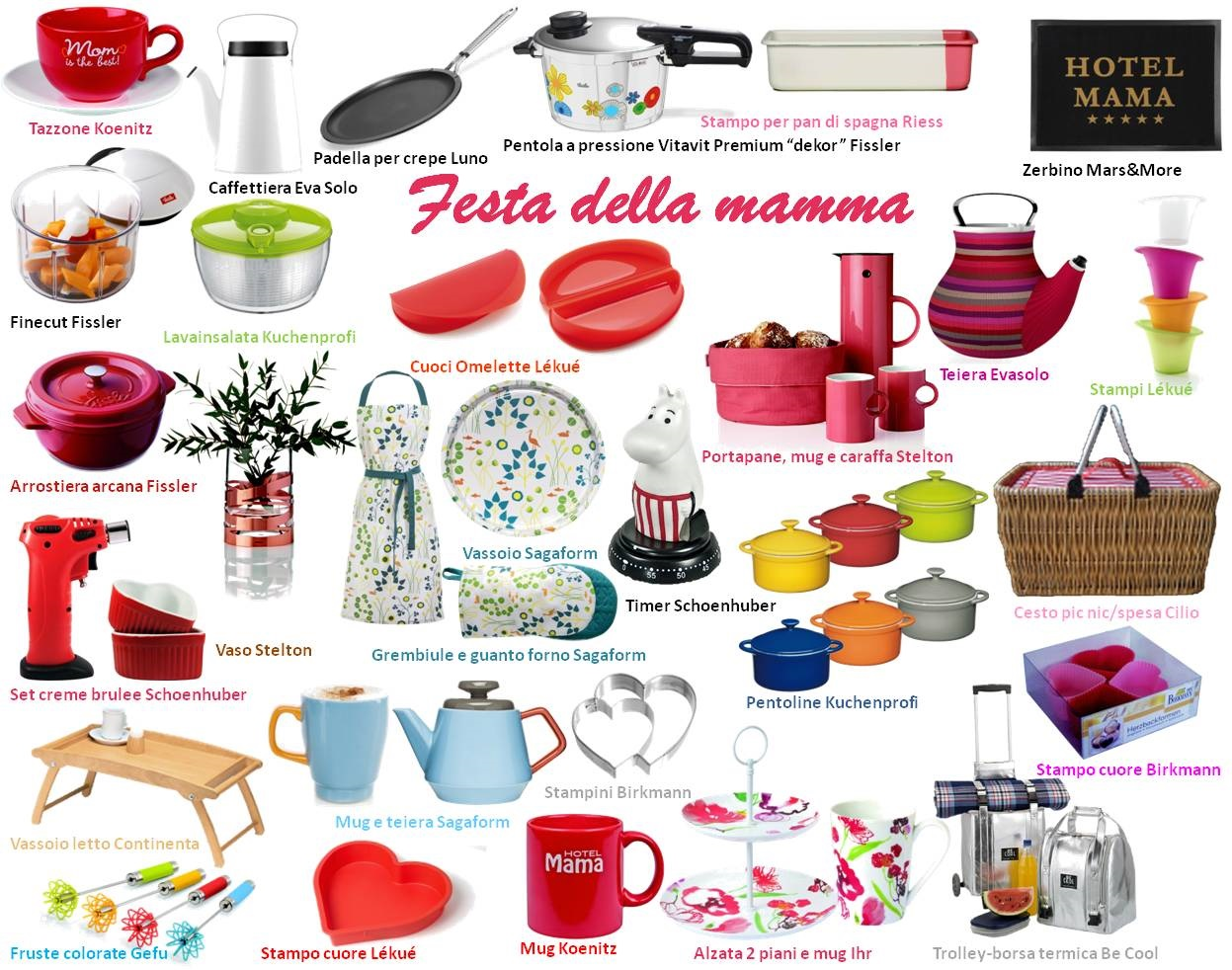 Qualche idea regalo per la festa della mamma all 39 insegna for Regali design
