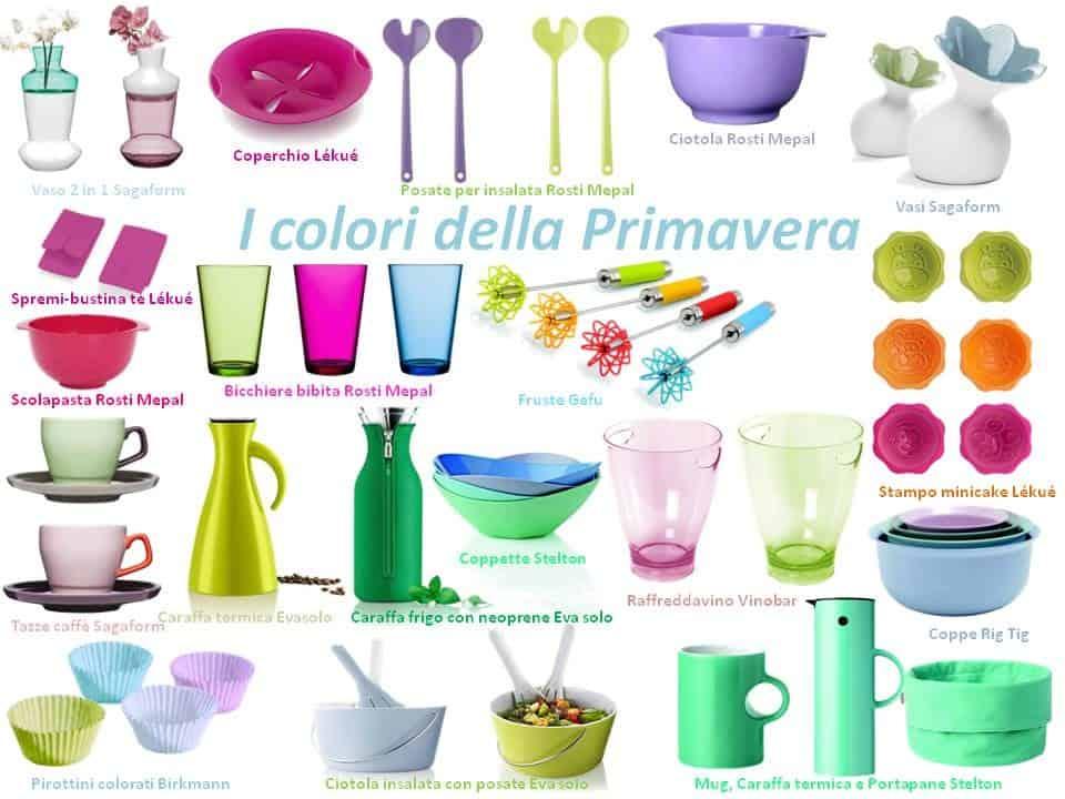 I colori della primavera sugli oggetti per la casa di for Oggetti design per casa