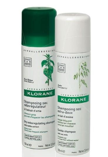 Shampoo secco by Klorane, per capelli puliti in un minuto!