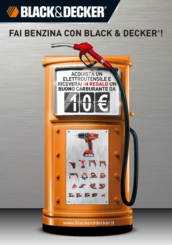 Acquista un elettroutensile Black&Decker e riceverai in regalo un buono carburante da 10 euro