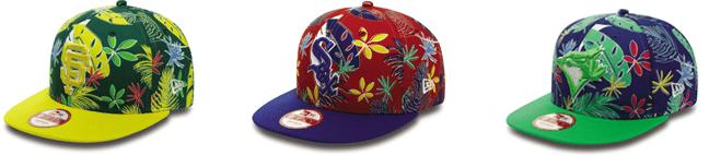 I nuovi cappelli NEW ERA hanno stampe gingham e floreali a tutto colore