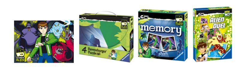 I giochi in scatola BEN 10 accompagnano con allegria la tua estate