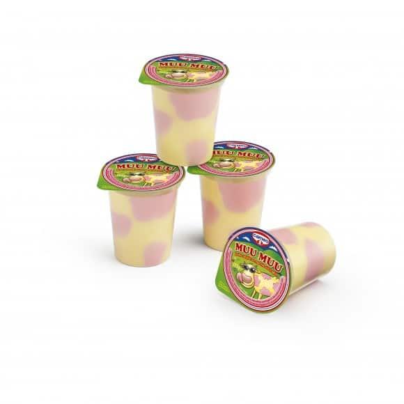 Per l'estate scegli il fresco gusto del budino Cameo Muu Muu vaniglia e fragola!