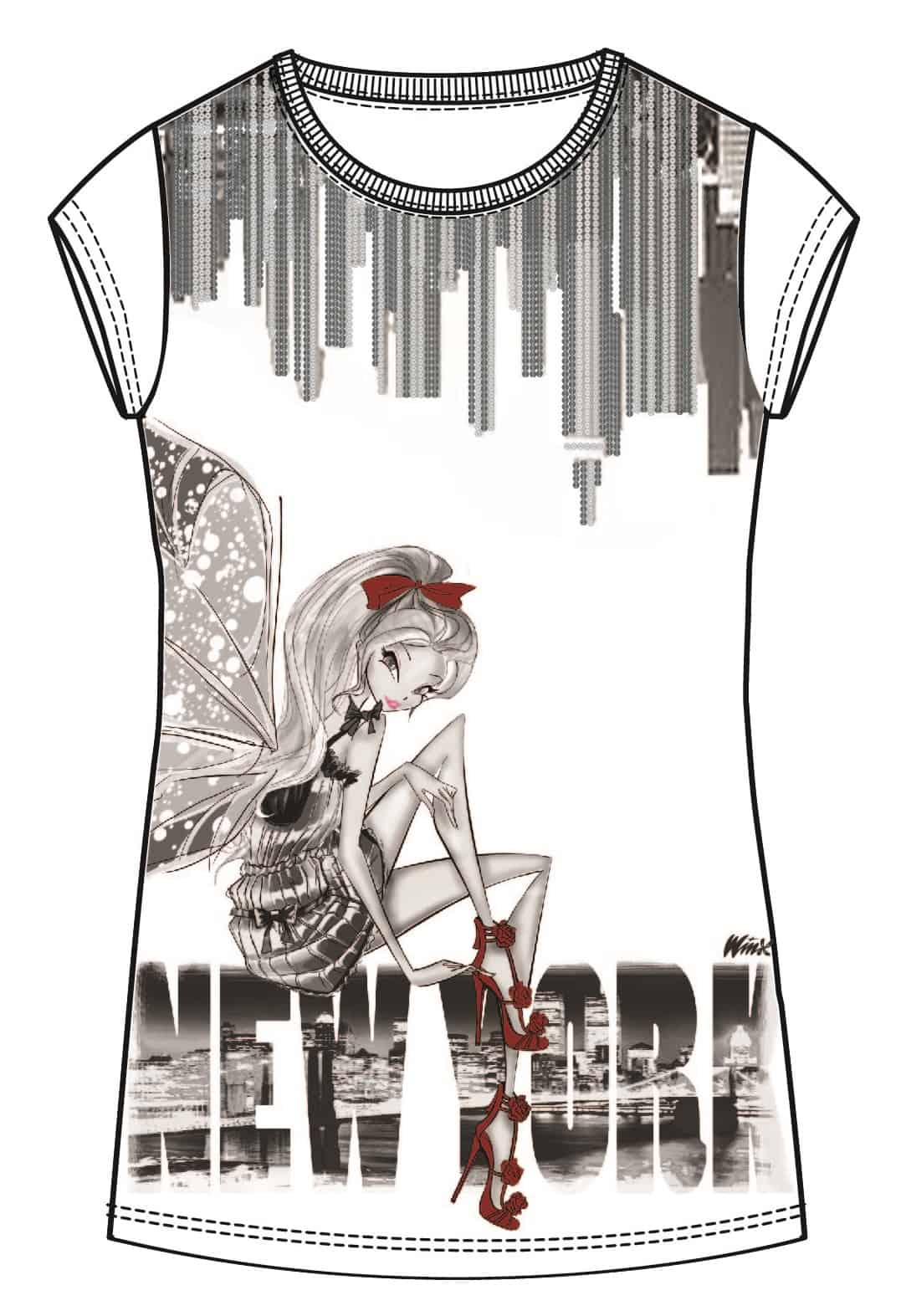 bozzetto t shirt urban fairy by sisley young le shopping news. Black Bedroom Furniture Sets. Home Design Ideas