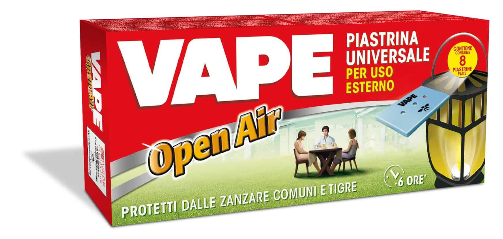 Vape presenta la Ricarica Mat Open Air: per evitare le zanzare anche in giardino!