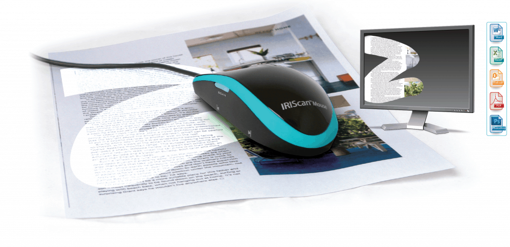 IRIScan™ Mouse: basta un clic e ... scannerizzi qualsiasi documento!