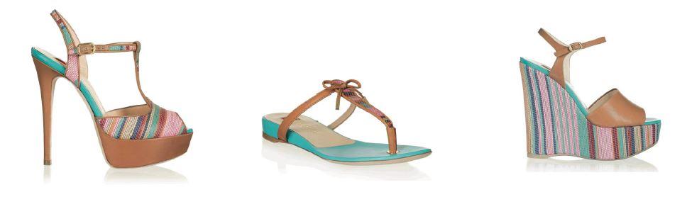 Esotiche righe multicolor per le scarpe estive di BALLIN