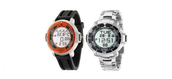 Dive master l 39 orologio sector perfetto per l 39 outdoor con la sua funzione touch le shopping news - Sector dive master istruzioni ...