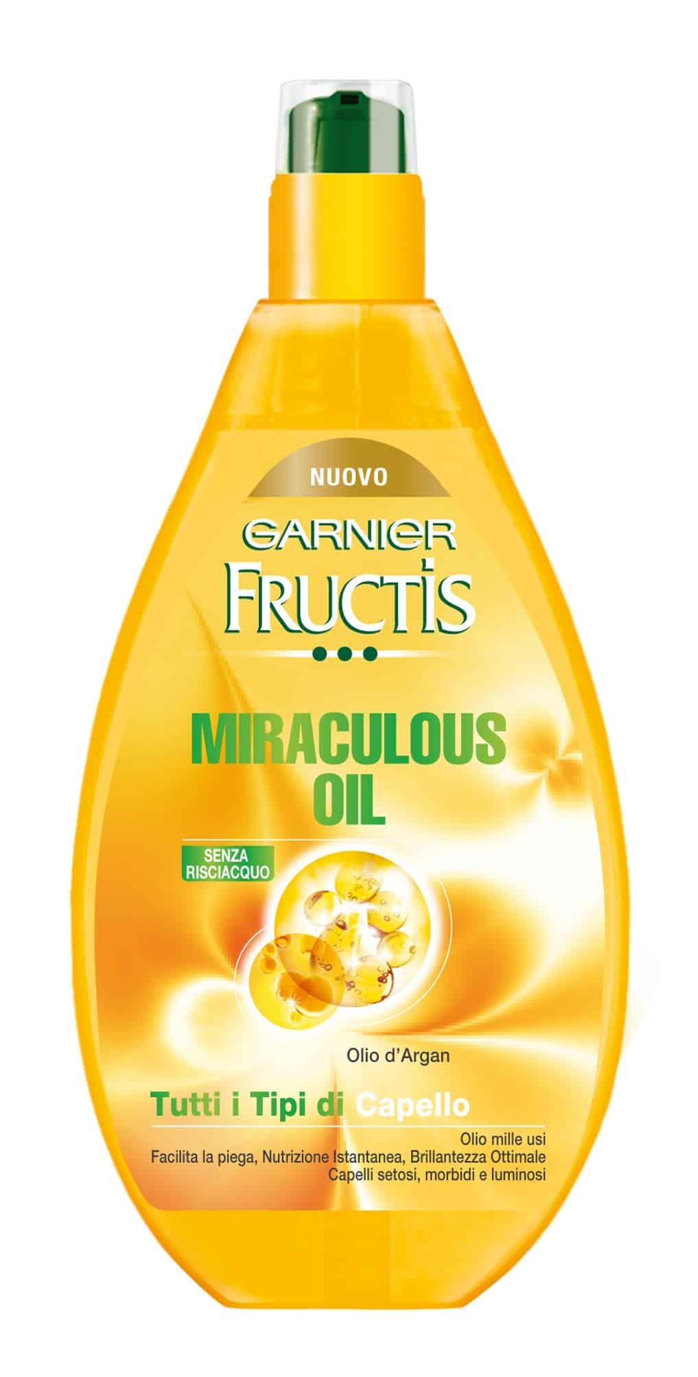 Fructis MIRACULOUS OIL by Garnier, per avere capelli morbidi ed idratati anche in vacanza