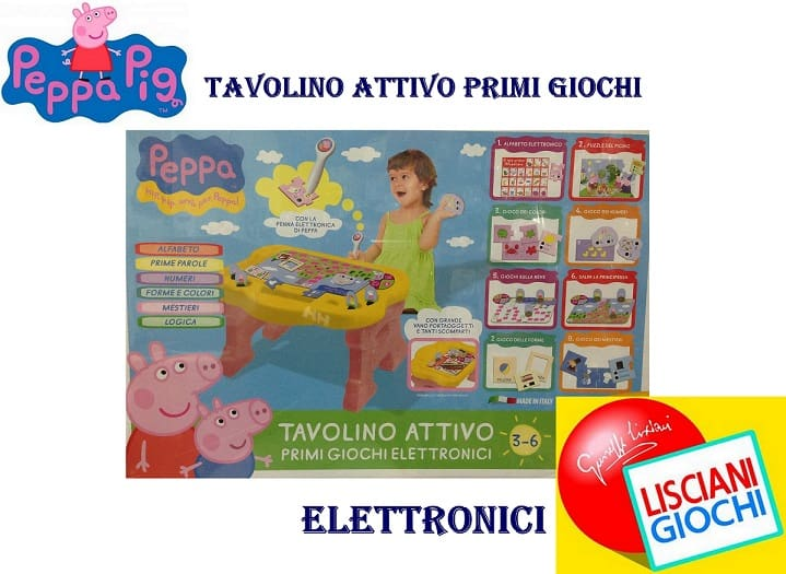 Tavolino attivo Peppa Pig: giochi e puzzle per imparare divertendosi