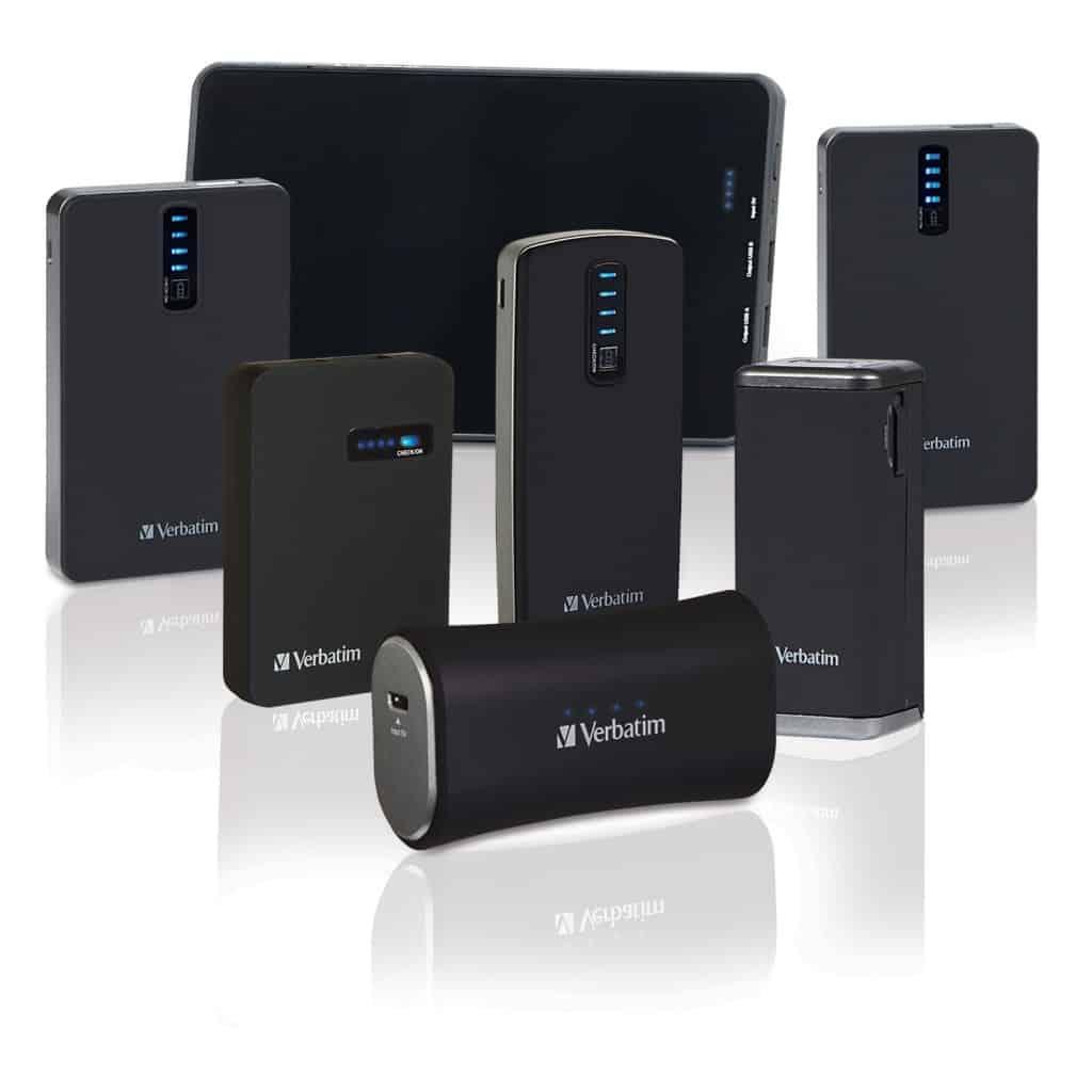 Design elegante per i nuovi power pack portatili Verbatim