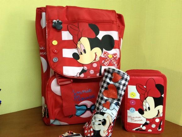 Zaino e astuccio scuola Minni Mouse, per ritornare a scuola in compagnia degli amati personaggi Disney