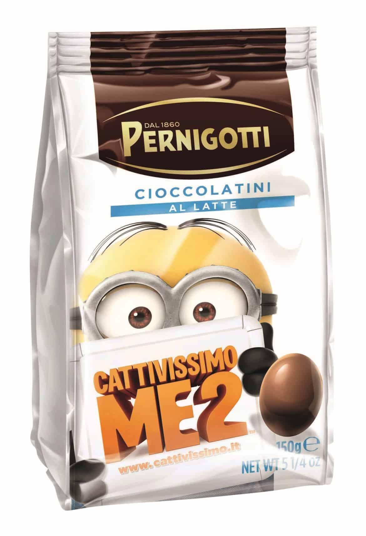 Cioccolatini al latte Pernigotti dedicati ai MINION di Cattivissimo me 2