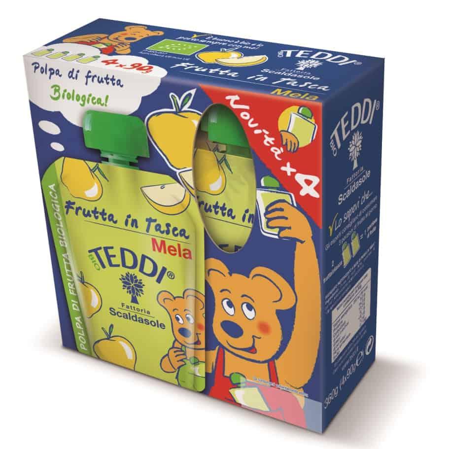 Frutta in Tasca di Teddi: nuovo packaging e tanta vitamina C!
