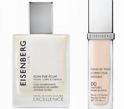 Eisenberg: un olio essenziale per pelli secche e un fondo tinta che copre tutte le imperfezioni della pelle