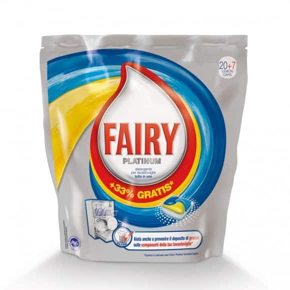Fairy Platinum: il detergente per lavastoviglie in caps pratico ed efficace contro lo sporco più ostinato
