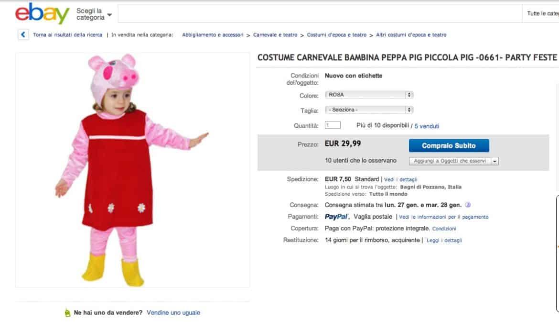 Su eBay moltissimi oggetti dedicati a Peppa Pig, la maialina più amata dai bambini!