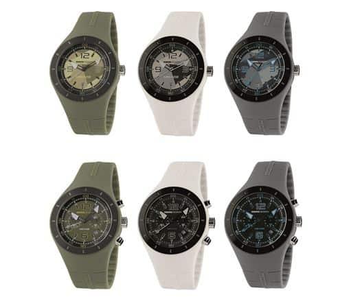 Colori militari e cinturini soft-touch per i nuovi orologi della linea Mirage MOMODESIGN