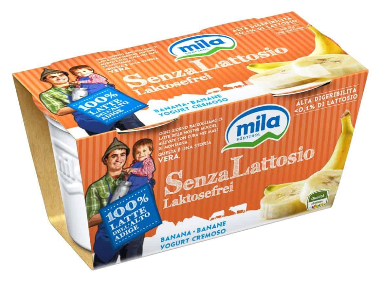 Alta digeribilità per lo yogurt intero cremoso MILA senza lattosio
