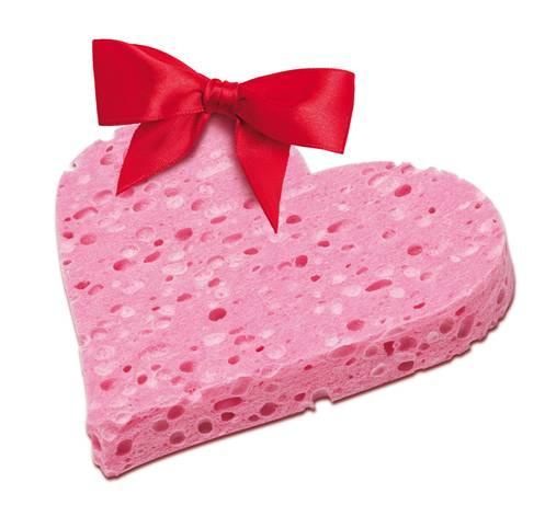 Calypso Natural Love: la spugna a forma di cuore da regalare a San Valentino