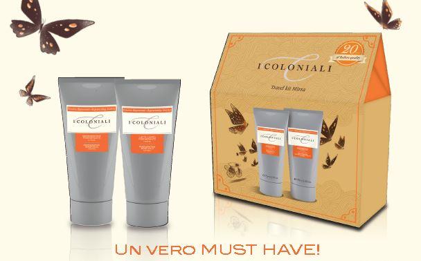 La Via delle Farfalle – Travel kit Mirra: prodotti da viaggio dalla fragranza inconfondibile!