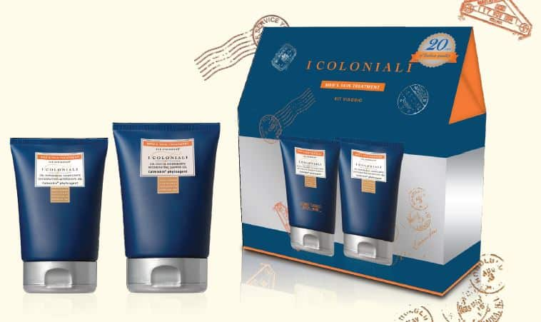 Men Skin treatment, il travel kit de I COLONIALI per una pelle maschile morbida ed idratata