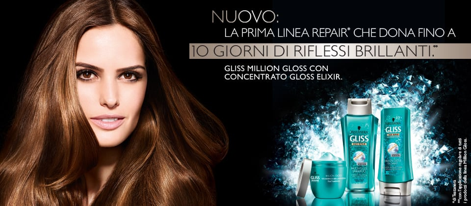 Da Testanera arriva Gliss Million Gloss, la linea che regala capelli brillanti come non mai!