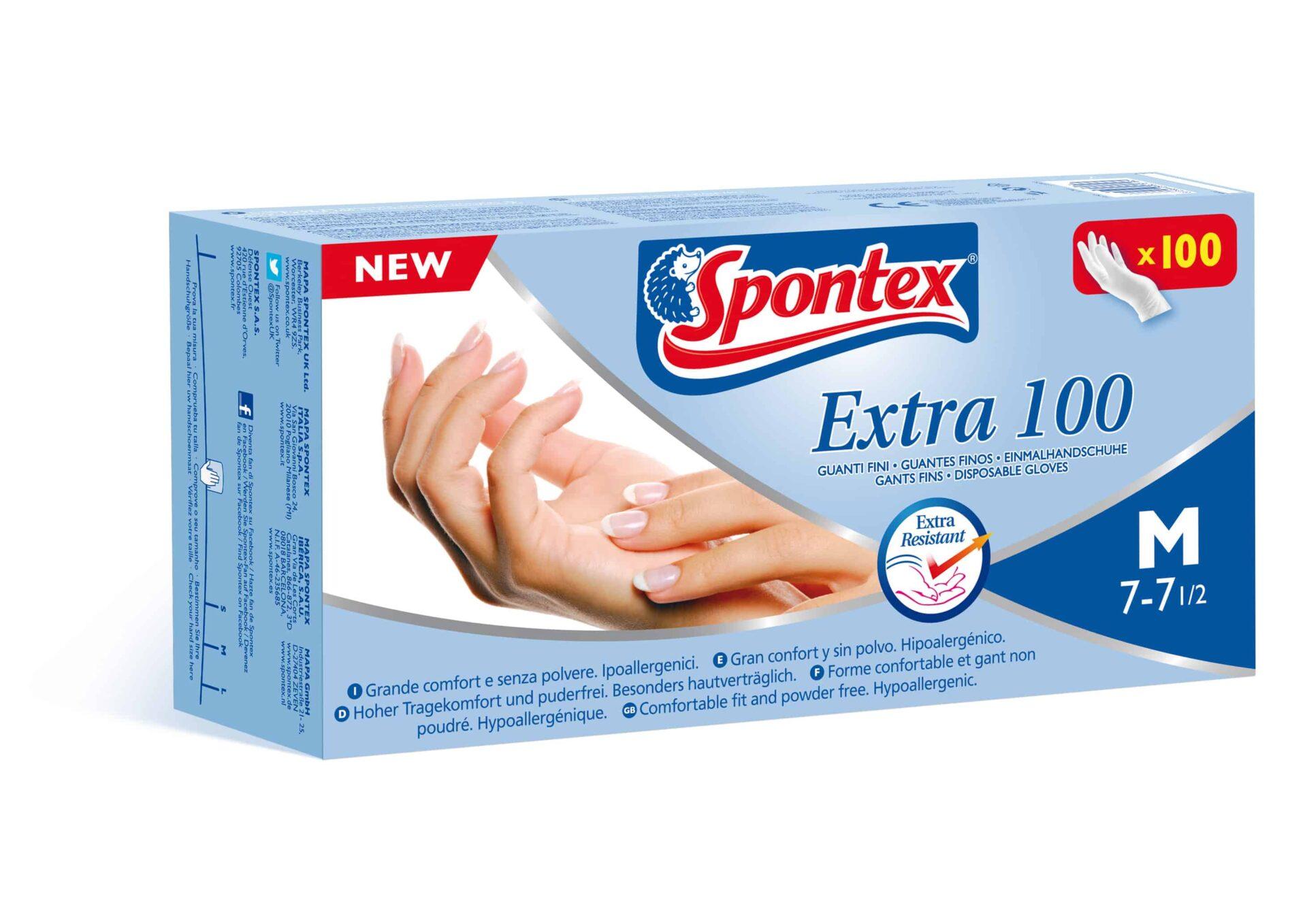 EXTRA 100, il guanto Spontex latex-free a prova di allergie