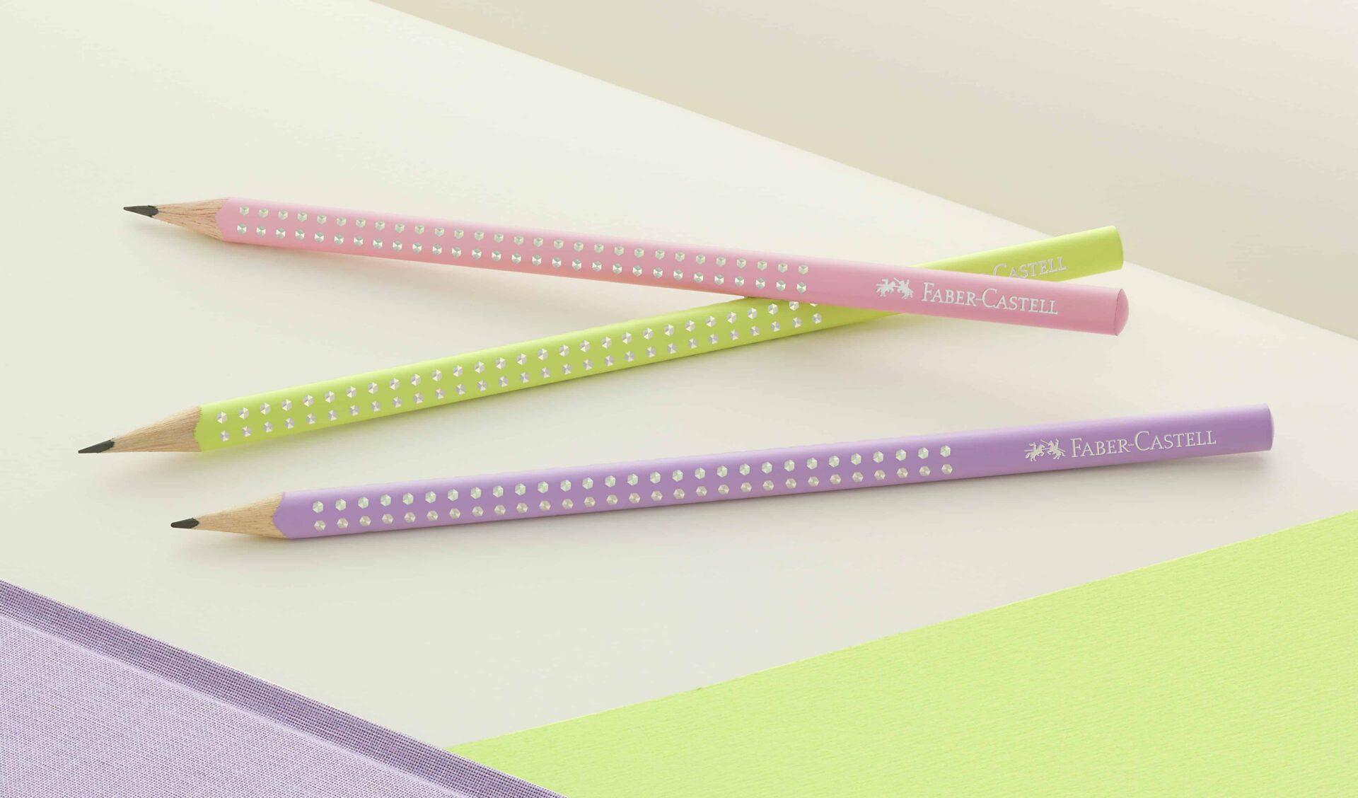 Attraenti colori primaverili e pois glitterati per le matite SPARKLE DI FABER-CASTELL