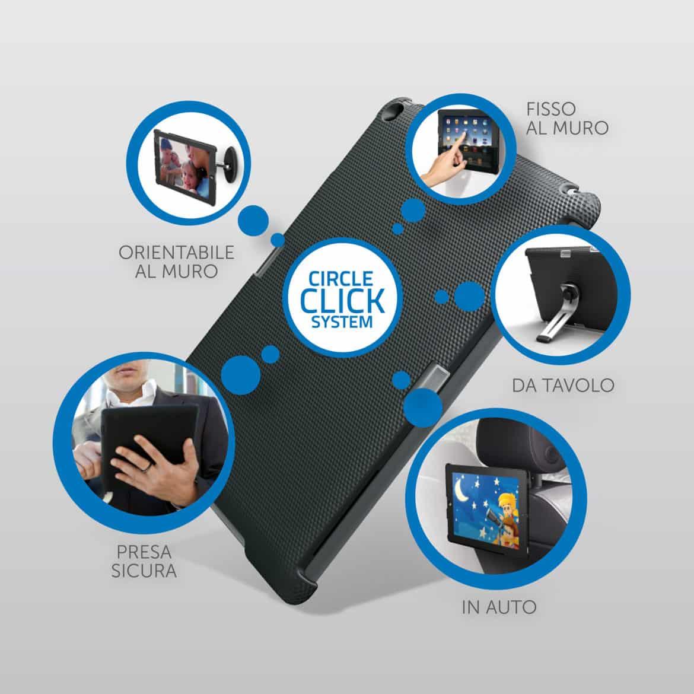 Circle Click System by Meliconi, per essere connessi col proprio tablet ovunque