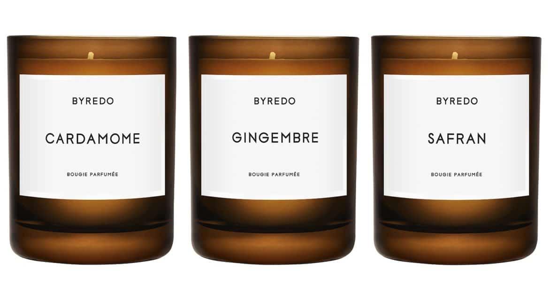 La collezione di candele BYREDO, a base di fragranze esclusive ed esotiche
