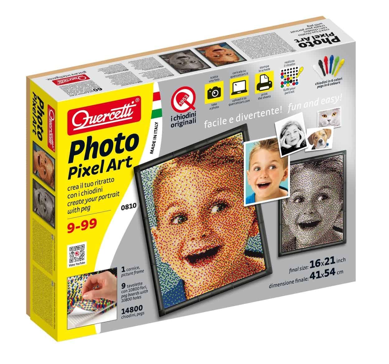 Photo Pixel Art Quercetti: crea il tuo ritratto con i famosi chiodini