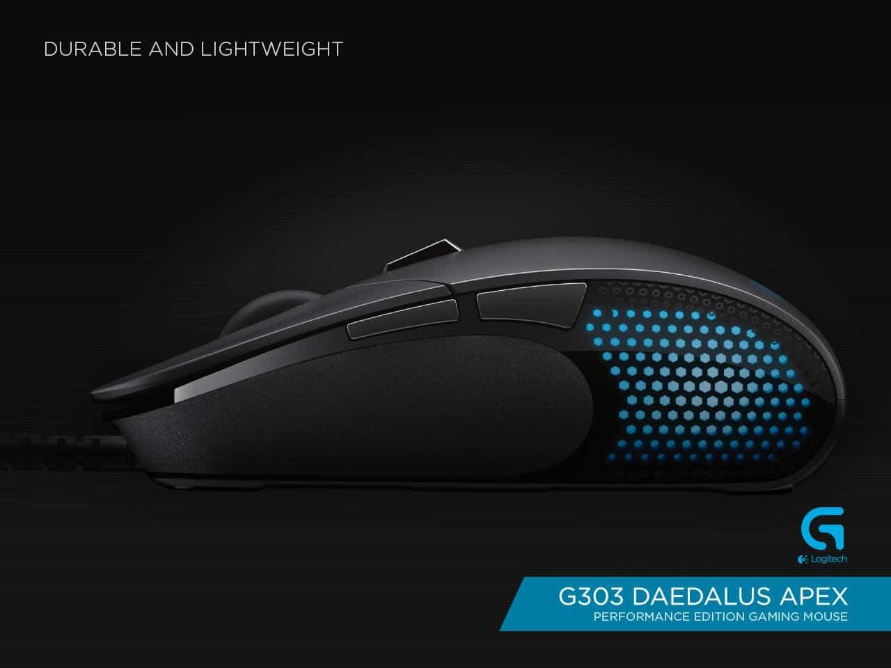 Logitech G303 Daedalus Apex Performance Edition Gaming Mouse, il nuovo mouse ideato secondo le richieste dei videogiocatori