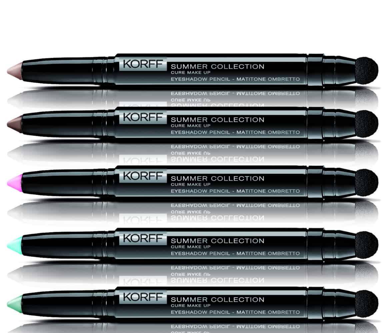 Korff presenta i nuovi matitoni-ombretti per l'estate