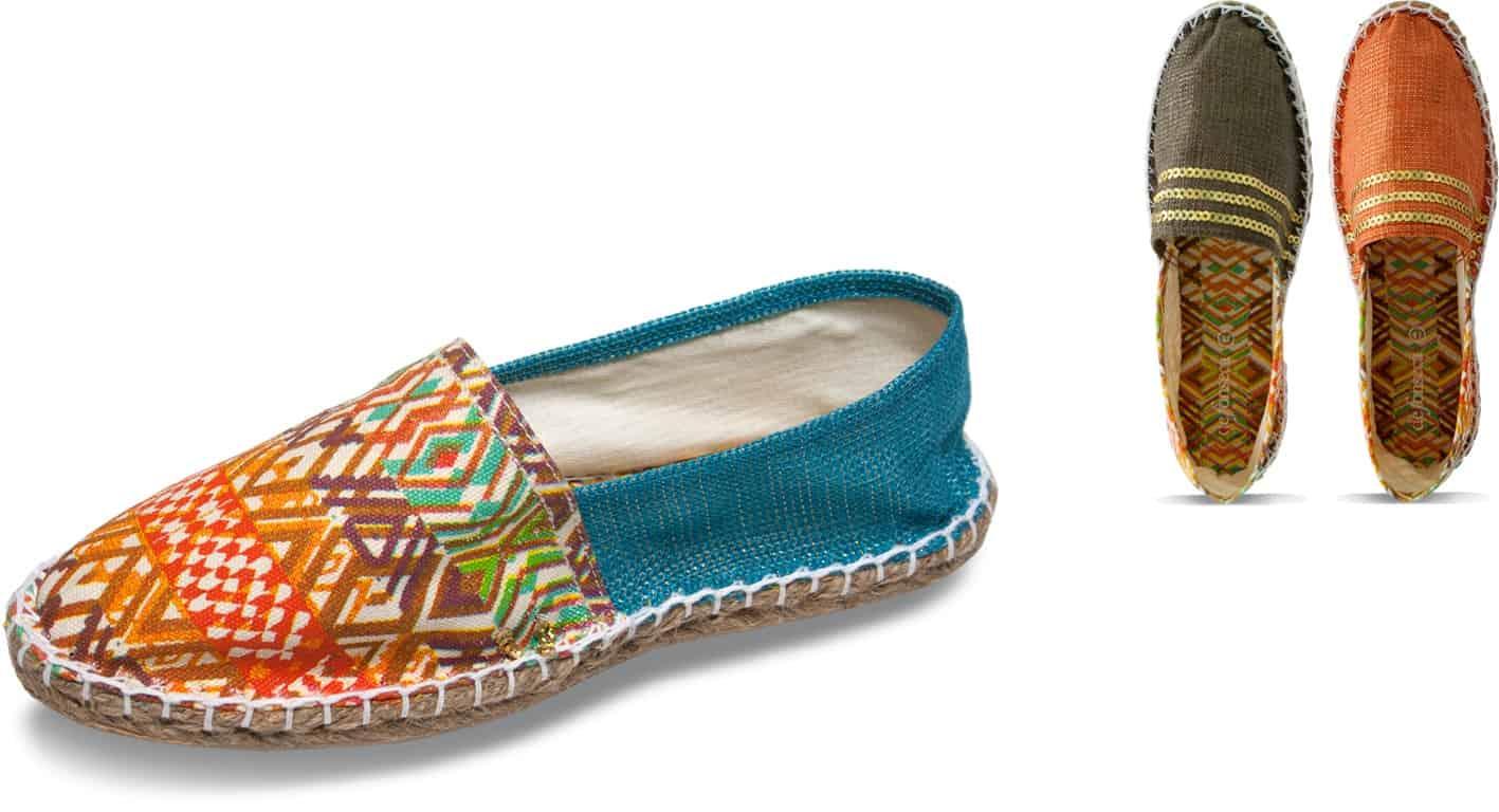 Decorazioni etniche ispirate agli anni  70 nei sandali estivi di De Fonseca 46b0057d2b1