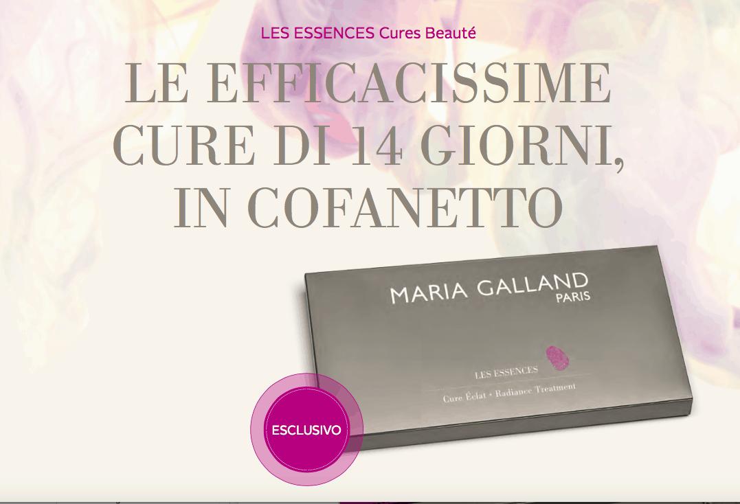 Maria Galland presenta Les Cures Essences Coffrets