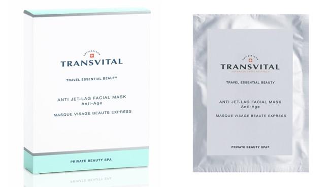 Transvital Anti Jet-Lag Facial Mask, bustine monodose effetto lifting ideali per viaggi e vacanze
