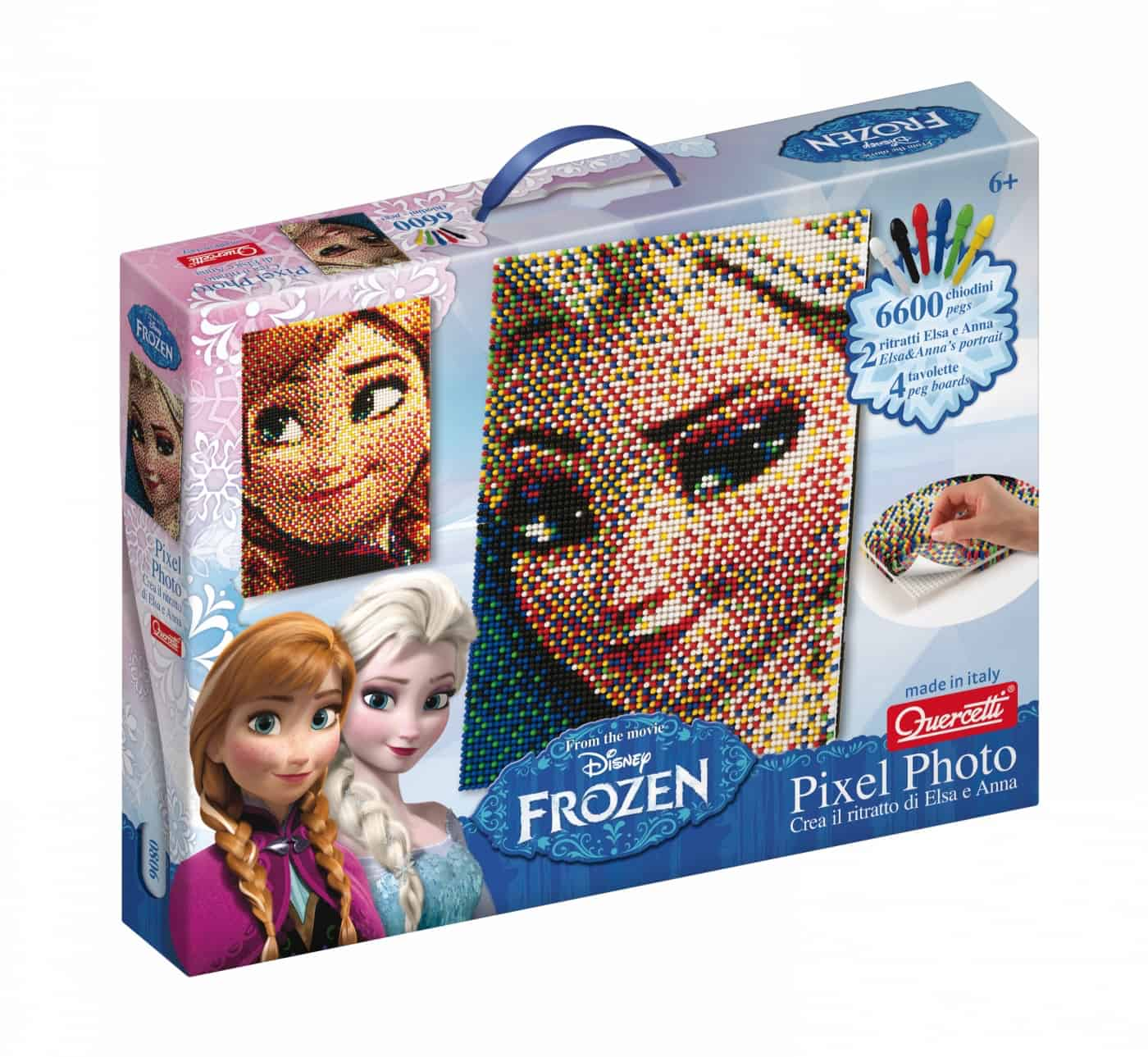 Arrivano per Natale Pixel Photo Frozen e Pixel Photo Princess firmati Quercetti!