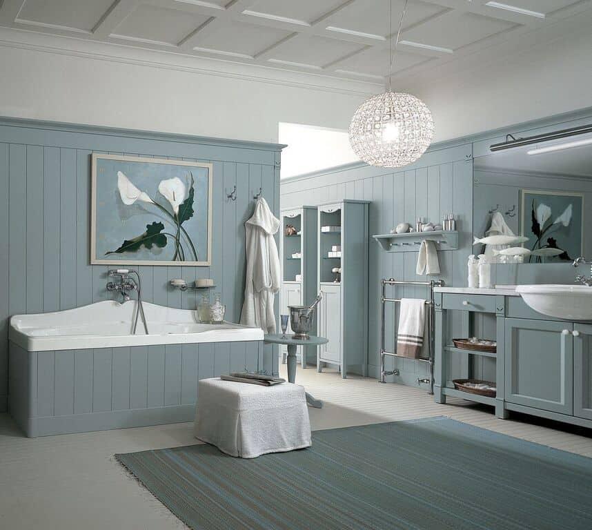 Mobili da bagno in legno massello minacciolo per un bagno - Mobili da bagno in stile ...