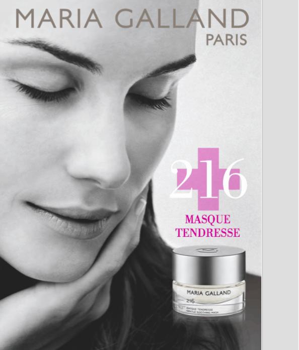 Maria Galland Paris dedica alle pelli sensibili la 216 MASQUE TENDRESSE