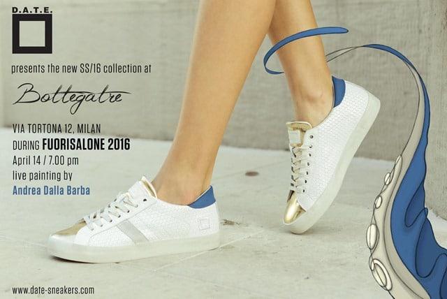 D.A.T.E. presenta le sue innovative sneakers al Salone del Mobile di Milano