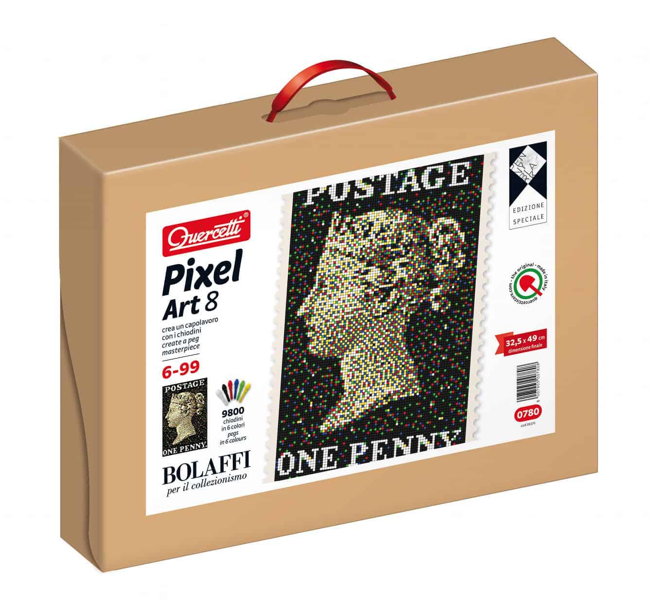 Pixel Art – Edizione Speciale Bolaffi, per creare il Penny Black con i Chiodini Quercetti