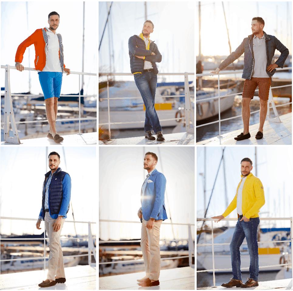 Armata di Mare, per un abbigliamento maschile colorato e destrutturato