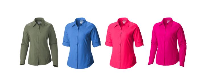 Le nuove camicie COLUMBIA proteggono dai raggi solari nocivi