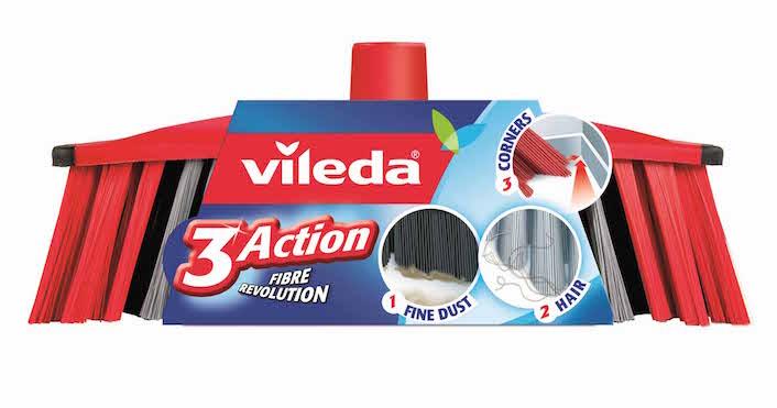 Vileda Scopa 3ACTION e ... lo sporco sparirà!